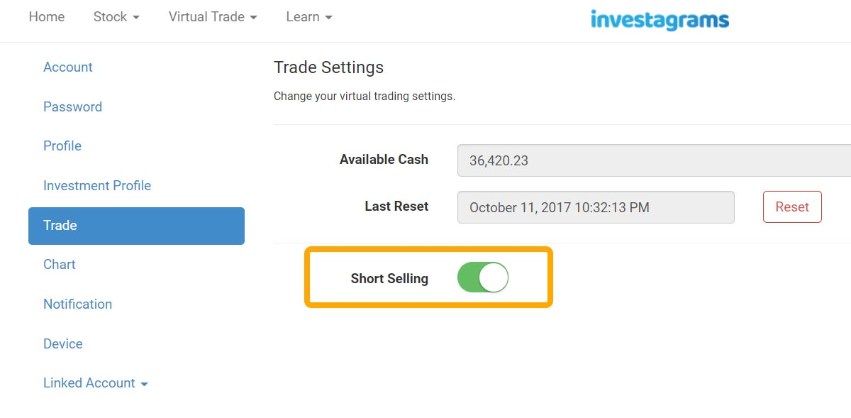 activate-short-selling-virtual-trading